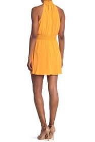 BCBGeneration Smocked Halter Neck Dress