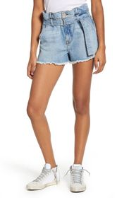 7 For All Mankind Belted Cutoff Shorts