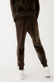 True Religion Velour Logo Branded Joggers