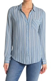 Lucky Brand Striped Tunic Shirt