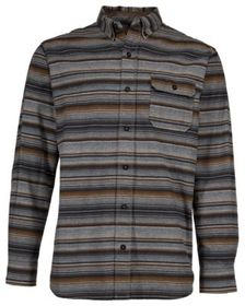 RedHead Ranch Brushed Herringbone Striped Long-Sle