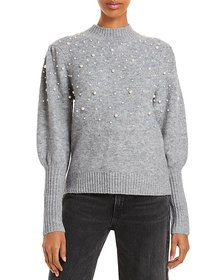 Lucy Paris - Winslow Embellished Balloon Sleeve Sw