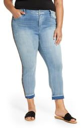 Seven7 High Rise Skinny Jeans With Side Seam Detai