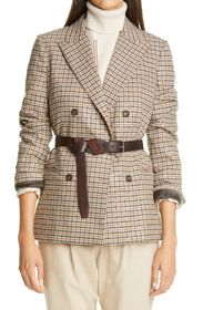 Brunello Cucinelli Houndstooth Double Breasted Lin