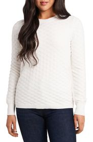 Vince Camuto Basket Weave Cotton Blend Sweater