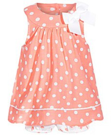 Baby Girls Dot-Print Cotton Sunsuit, Created for M