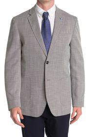Ben Sherman Light Grey Two Button Notch Lapel Unio