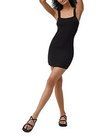 FRENCH CONNECTION - Lynne Ribbed Knit Bodycon Dres