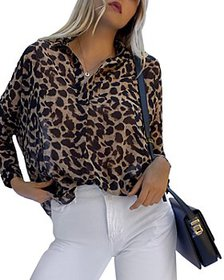FRENCH CONNECTION - Leopard Print Button Down Shir