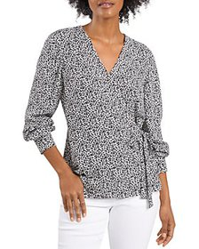 VINCE CAMUTO - Ditsy Floral Side Tie Top
