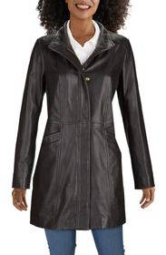 Dakota Smith Lambskin Leather Car Coat