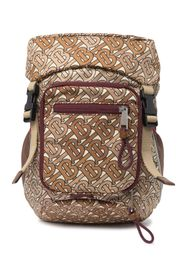 Burberry Drawstring Flap Backpack TB Embossed Back