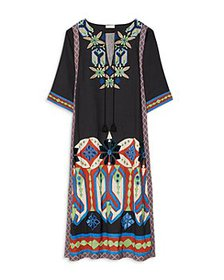 Tory Burch - Embroidered Maxi Caftan