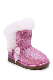 Juicy Couture Lil Windsor Faux Fur Glitter Boot