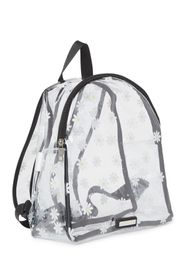 Madden Girl Printed Clear Vinyl Mid Backpack