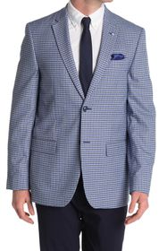 Ben Sherman Medium Grey Check Two Button Notch Lap