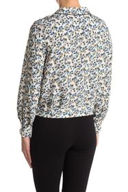 FRNCH Patterned Long Sleeve Blouse