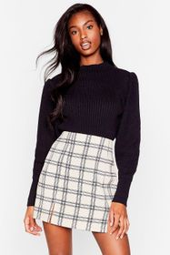 Nasty Gal Black Knit's All Gonna Be Okay High Neck