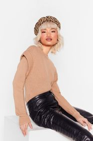 Nasty Gal Stone They're Shoulder Pad News Ribbed K