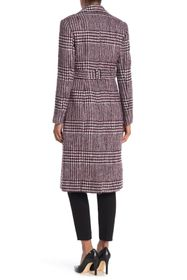 Cole Haan Check Printed Notch Lapel Coat