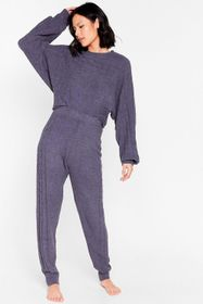 Nasty Gal Charcoal Chenille the Love Relaxed Sweat
