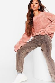 Nasty Gal Lavender Faux Shearling Oversized Sweats