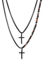 Ben Sherman Double Layer Cross Necklace