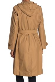 kate spade new york double breasted hooded trench