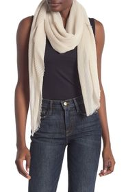 BCBG Oversized Pleated Wrap Scarf