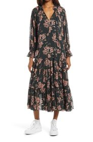 Free People Feeling Groovy Long Sleeve Dress