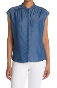 G-STAR RAW Parge Chambray Pleated Top