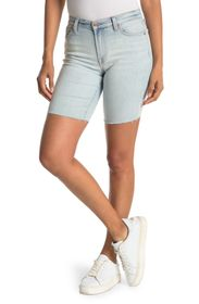 7 For All Mankind Mid Rise Rolled Hem Denim Shorts