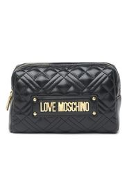 LOVE Moschino Bustina Quilted Leather Pouch