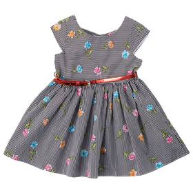 Toddler Girl Youngland Stripe Floral Dress with Be