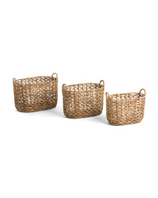 Oval Natural Open Twist Basket Collection