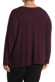 H By Bordeaux Seamed Brushed Hacci Sweater