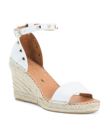 Made In Spain 1 Band Studded Leather Espadrille We