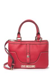 LOVE Moschino Red Leather Top Handle Bag