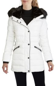 Kenneth Cole New York Hooded Puffer Coat with Faux
