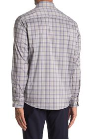 Cole Haan Plaid Print Performance Long Sleeve Spor