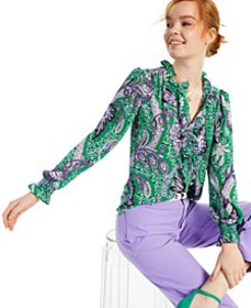 Paisley-Print Top, Created for Macy's