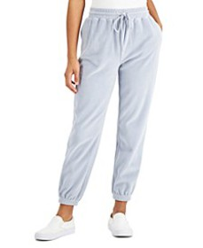 Juniors' Velour Jogger Pants