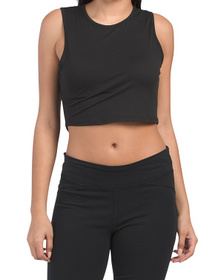 Mj Semi Fitted Sleeveless Crop Top
