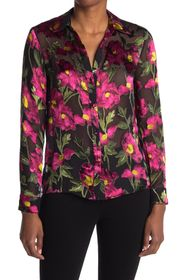 alice + olivia Eloise Floral Collared Blouse