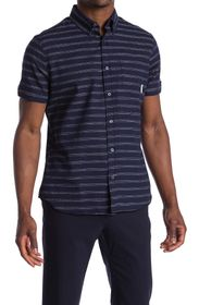 Ben Sherman Texture Stripe Regular Fit Shirt