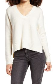 Dreamers by Debut V-Neck Dolman High/Low Sweater