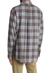 Brooks Brothers Plaid Flannel Print Regular Fit Sh