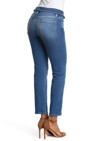FRAME Le High Fold Over Crop Straight Jeans