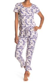 Jessica Simpson Butterfly Print Tee & Jogger 2-Pie