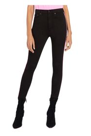 alice + olivia Good High Rise Side Piping Skinny J